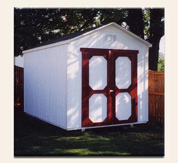 Custom a-frame sheds