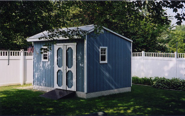 Custom Built Carriage House Shed